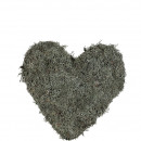 Plant heart closed, moss, D40cm, natural